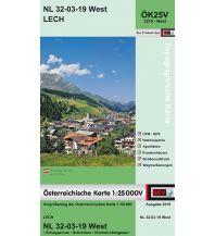Wanderkarten Vorarlberg BEV-Karte 2219-West, Lech 1:25.000 BEV – Bundesamt für Eich- und Vermessungswesen