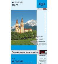Wanderkarten Tirol BEV-Karte 2222, Telfs 1:50.000 BEV – Bundesamt für Eich- und Vermessungswesen