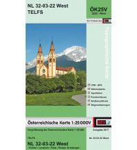 Wanderkarten Tirol BEV-Karte 2222-West, Telfs 1:25.000 BEV – Bundesamt für Eich- und Vermessungswesen