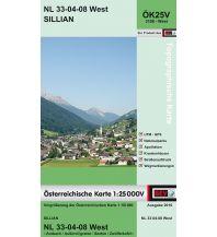 Wanderkarten Tirol BEV-Karte 3108-West, Sillian 1:25.000 BEV – Bundesamt für Eich- und Vermessungswesen