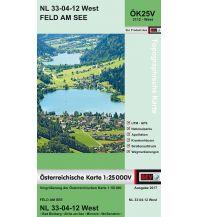 Wanderkarten Kärnten BEV-Karte 3112-West, Feld am See 1:25.000 BEV – Bundesamt für Eich- und Vermessungswesen