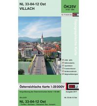 Wanderkarten Kärnten BEV-Karte 3112-Ost, Villach 1:25.000 BEV – Bundesamt für Eich- und Vermessungswesen