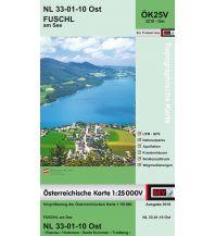Wanderkarten Salzburg BEV-Karte 3210-Ost, Fuschl am See 1:25.000 BEV – Bundesamt für Eich- und Vermessungswesen