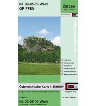 Wanderkarten Kärnten BEV-Karte 4109-West, Griffen 1:25.000 BEV – Bundesamt für Eich- und Vermessungswesen
