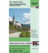 Wanderkarten Kärnten BEV-Karte 4114-Ost, Bad Eisenkappel/Železna Kapla 1:25.000 BEV – Bundesamt für Eich- und Vermessungswesen