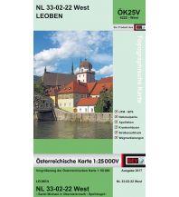 Wanderkarten Steiermark BEV-Karte 4222-West, Leoben 1:25.000 BEV – Bundesamt für Eich- und Vermessungswesen