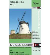 Wanderkarten Niederösterreich BEV-Karte 4312-Ost, Retz 1:25.000 BEV – Bundesamt für Eich- und Vermessungswesen