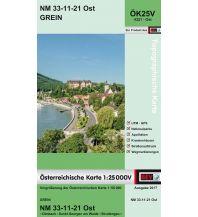 Wanderkarten Oberösterreich BEV-Karte 4321-Ost, Grein 1:25.000 BEV – Bundesamt für Eich- und Vermessungswesen