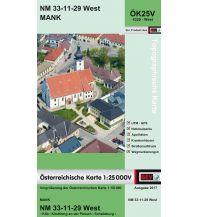 Wanderkarten Niederösterreich BEV-Karte 4329-West, Mank 1:25.000 BEV – Bundesamt für Eich- und Vermessungswesen