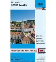 Wanderkarten BEV-Karte 1217, Sankt Gallen 1:50.000 BEV – Bundesamt für Eich- und Vermessungswesen