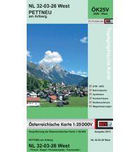 Wanderkarten Tirol BEV-Karte 2226-West, Pettneu am Arlberg 1:25.000 BEV – Bundesamt für Eich- und Vermessungswesen