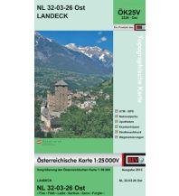 Wanderkarten Tirol BEV-Karte 2226-Ost, Landeck 1:25.000 BEV – Bundesamt für Eich- und Vermessungswesen