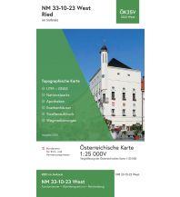 Wanderkarten Oberösterreich BEV-Karte 3323-West, Ried im Innkreis 1:25.000 BEV – Bundesamt für Eich- und Vermessungswesen