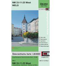 Wanderkarten Oberösterreich BEV-Karte 4325-West, Wels 1:25.000 BEV – Bundesamt für Eich- und Vermessungswesen