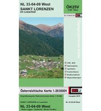 Wanderkarten Tirol BEV-Karte 3109-West, St. Lorenzen im Lesachtal 1:25.000 BEV – Bundesamt für Eich- und Vermessungswesen
