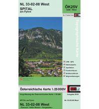 Wanderkarten Oberösterreich BEV-Karte 4208-West, Spital am Pyhrn 1:25.000 BEV – Bundesamt für Eich- und Vermessungswesen