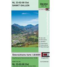 Wanderkarten Steiermark BEV-Karte 4208-Ost, Sankt Gallen 1:25.000 BEV – Bundesamt für Eich- und Vermessungswesen