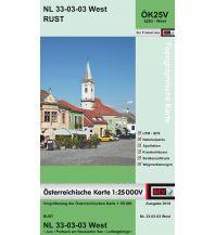 Wanderkarten Burgenland BEV-Karte 5203-West, Rust 1:25.000 BEV – Bundesamt für Eich- und Vermessungswesen