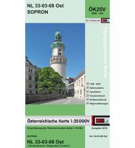 Wanderkarten Burgenland BEV-Karte 5208-Ost, Sopron/Ödenburg 1:25.000 BEV – Bundesamt für Eich- und Vermessungswesen