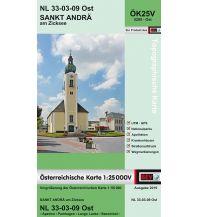 Wanderkarten Burgenland BEV-Karte 5209-Ost, Sankt Andrä am Zicksee 1:25.000 BEV – Bundesamt für Eich- und Vermessungswesen