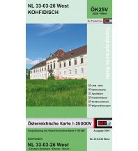 Wanderkarten Burgenland BEV-Karte 5226-West, Kohfidisch 1:25.000 BEV – Bundesamt für Eich- und Vermessungswesen