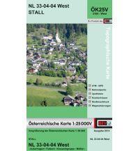 Wanderkarten Kärnten BEV-Karte 3104-West, Stall 1:25.000 BEV – Bundesamt für Eich- und Vermessungswesen