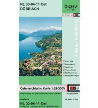 Wanderkarten Kärnten BEV-Karte 3111-Ost, Döbriach 1:25.000 BEV – Bundesamt für Eich- und Vermessungswesen