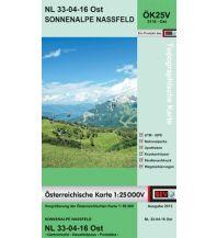 Wanderkarten Kärnten BEV-Karte 3116-Ost, Sonnenalpe Nassfeld 1:25.000 BEV – Bundesamt für Eich- und Vermessungswesen