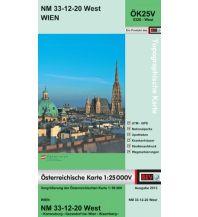 Wanderkarten Wien BEV-Karte 5320-West, Wien 1:25.000 BEV – Bundesamt für Eich- und Vermessungswesen