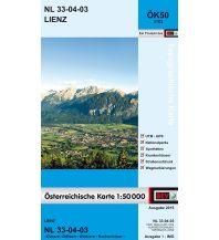 Wanderkarten Osttirol BEV-Karte 3103, Lienz 1:50.000 BEV – Bundesamt für Eich- und Vermessungswesen