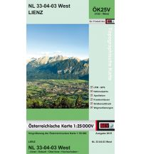 Wanderkarten Tirol BEV-Karte 3103-West, Lienz 1:25.000 BEV – Bundesamt für Eich- und Vermessungswesen