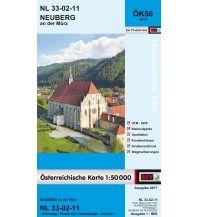 Wanderkarten Steiermark BEV-Karte 4211, Neuberg an der Mürz 1:50.000 BEV – Bundesamt für Eich- und Vermessungswesen