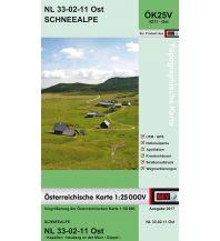 Wanderkarten Steiermark BEV-Karte 4211-Ost, Schneealpe 1:25.000 BEV – Bundesamt für Eich- und Vermessungswesen