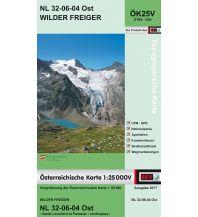 Wanderkarten Tirol BEV-Karte 2104-Ost, Wilder Freiger 1:25.000 BEV – Bundesamt für Eich- und Vermessungswesen