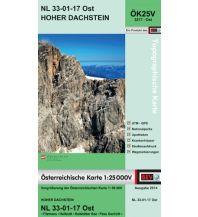 Wanderkarten Steiermark BEV-Karte 3217-Ost, Hoher Dachstein 1:25.000 BEV – Bundesamt für Eich- und Vermessungswesen