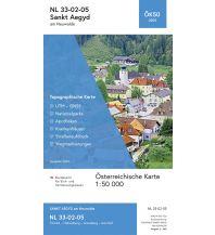 Wanderkarten Niederösterreich BEV-Karte 4205, Sankt Aegyd am Neuwalde 1:50.000 BEV – Bundesamt für Eich- und Vermessungswesen