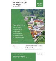 Wanderkarten Niederösterreich BEV-Karte 4205-Ost, Sankt Aegyd am Neuwalde 1:25.000 BEV – Bundesamt für Eich- und Vermessungswesen
