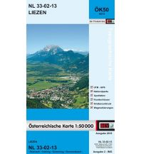 Wanderkarten Steiermark BEV-Karte 4213, Liezen 1:50.000 BEV – Bundesamt für Eich- und Vermessungswesen