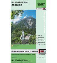 Wanderkarten Steiermark BEV-Karte 4213-West, Grimming 1:25.000 BEV – Bundesamt für Eich- und Vermessungswesen