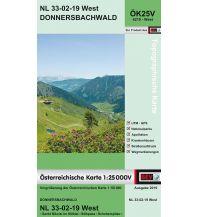 Wanderkarten Steiermark BEV-Karte 4219-West, Donnersbachwald 1:25.000 BEV – Bundesamt für Eich- und Vermessungswesen