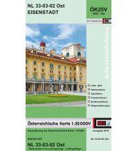 Wanderkarten Niederösterreich BEV-Karte 5202-Ost, Eisenstadt 1:25.000 BEV – Bundesamt für Eich- und Vermessungswesen