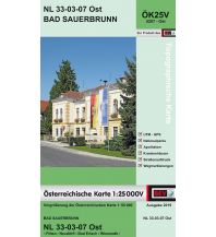 Wanderkarten Niederösterreich BEV-Karte 5207-Ost, Bad Sauerbrunn 1:25.000 BEV – Bundesamt für Eich- und Vermessungswesen