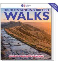 Wanderführer 100 Outstanding British walks Ordnance Survey