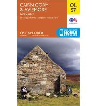 Wanderkarten Schottland OS Explorer Map OL57 Großbritannien - Cairn Gorm & Aviemore 1:25.000 Ordnance Survey