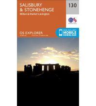 Wanderkarten Britische Inseln OS Explorer Map 130 Großbritannien - Salisbury & Stonehenge 1:25.000 Ordnance Survey