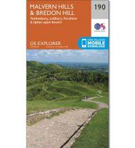 Wanderkarten England OS Explorer Map 190, Malvern Hills, Bredon Hills 1:25.000 Ordnance Survey