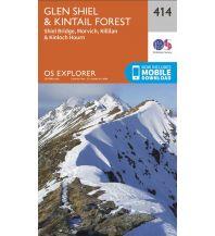 Wanderkarten Britische Inseln OS Explorer Map 414 Großbritannien - Glen Shiel & Kintail Forest 1:25.000 Ordnance Survey