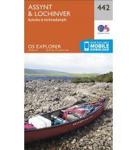 Wanderkarten Schottland OS Explorer Map 442, Assynt & Lochinver 1:25.000 Ordnance Survey