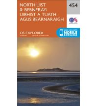 Wanderkarten Britische Inseln OS Explorer Map 454 Großbritannien - North Uist & Berneray 1:25.000 Ordnance Survey