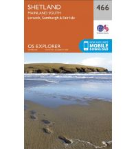Wanderkarten Britische Inseln OS Explorer Map 466 Großbritannien - Shetland - Mainland South 1:25.000 Ordnance Survey